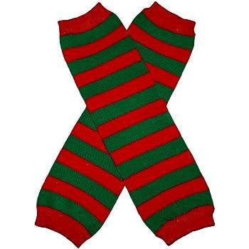 Baby Leggings Leg Warmer RED /& GREEN STRIPES CHRISTMAS
