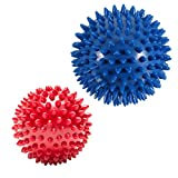 Pack of 2 Spiky Massage Balls - Plantar Fasciitis, Muscle...