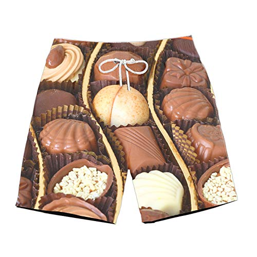 Blwz heren Quick Dry Shorts Dolce voor chocolade 3D strand bedrukt badpak strand surfbroek voor Vacanza