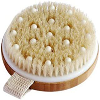 C.S.M. Body Brush for Wet or Dry Brushing - Gentle Exfoliating for Softer, Glowing Skin - Get Rid of Your Cellulite and Dr...
