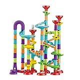 Marble Run Set para niños, 113 piezas Marble Runs Toy Marble Maze Race Track Game Set, STEM Juguete educativo de aprendizaje Bloques de construcción de construcción para niños 4 5 6 7 + años