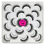 DAODER Thick Short Mink Lashes Bulk Natural False Eyelashes Soft Reusable Fluffy Fake Lashes Extension for Women' Daily Makeup 10Pairs (Thick Short lashes)