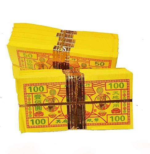 GL-GDD Ancestre Money Chino Papel Dinero para Quemar Jade Emperor Chino Joss Papel Dinero Notas Dorado Joss Papel Dinero China Ancestro 400 Hojas