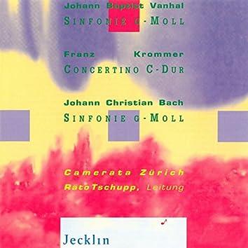 Johann Baptist Vanhal: Sinfonie in G Minor - Franz Krommer: Concertino in C Major - Johann Christian Bach: Sinfonie in G Minor