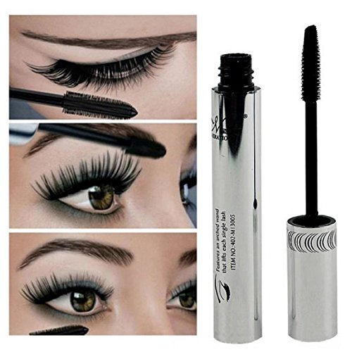 Femme Lengthening Mascara, Fibre Cils CrèMe CosméTique,Long Curling Black Waterproof Fine Outils De Maquillage Eyelash Cream