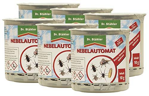 Dr. Stähler 002189 Kammerjäger, Ungeziefer Nebelautomat für Wohnungen bis 250 m³, 6 Stück