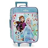 Disney Frozen Awesome Moves Trolley cabina Azzurro 35x50x16 cms Morbida Microfibra & PVC 25L 1,8Kgs 2 Ruote Bagaglio a mano