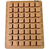 UMI. by Amazon - 48 Buchstaben Zahlen Sonderzeichen Würfel Silikon Seifenform Backform Schokoladenform 24 * 18 * 1,5cm - BPA-Frei