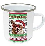 teesquare1st Christmas Welsh Corgi Pembroke 10oz Tazza da Caffe Natalizia/Tazza di Natale
