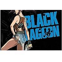 Suuyar ブラックラグーンレヴィ両手アニメポスターとプリントウォールアートプリントキャンバスにリビングルームホームベッドルーム装飾-20X30インチX1フレームレス