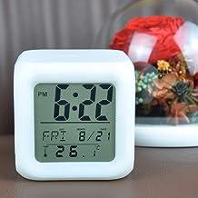 Kids Alarm Clock, LED Digital Clock for Boys Girls, 7 Color Changing Night Light Clock for Kids Bedroom Bedside, Children'...