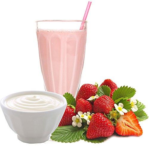 Erdbeer Joghurt Molkepulver Luxofit mit L-Carnitin Protein angereichert Wellnessdrink Aspartamfrei Molke (Erdbeer Joghurt, 1 kg)