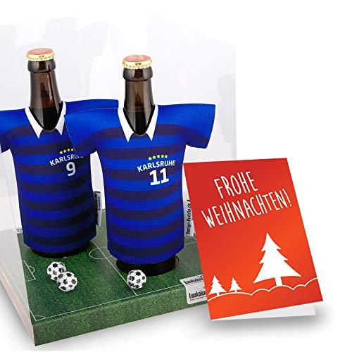 Weihnachts-Geschenk | Der Trikotkühler | Das Männergeschenk für Karlsruhe-Fans | Langlebige Geschenkidee Ehe-Mann Freund Vater Geburtstag | Bier-Flaschenkühler by Ligakakao