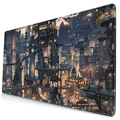 Hd 3D Anime Gaming Large Big Mouse Pad 29.5'X15.8',Non-Slip Base and Stitched Edge for Home Office Work