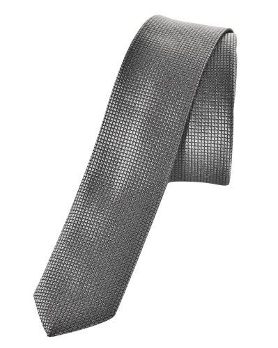 Sixth June Cravate à quadrillages gris tendance et fashion Gris Unique