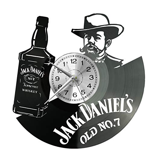 Whisky Wanduhr Vinyl Schallplatte Retro-Uhr groß Uhren Style Raum Home Dekorationen Tolles Geschenk Uhr Whisky