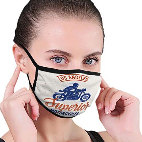 NA Baumwolle Gesichtsmaske zum Laufen, Reisen, Radfahren Waschbar und wiederverwendbar Winddichte Mundmaske überlegene Motorradfahrer handgemachte Schriftzug Cafe Racer Vintage Typografie