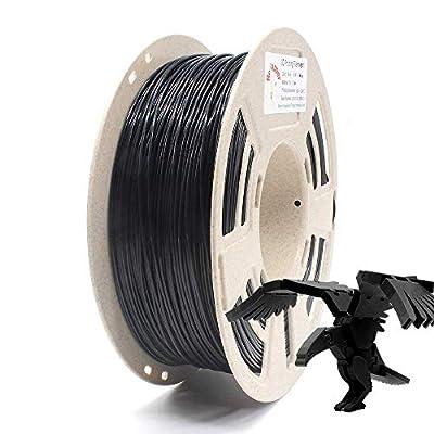 Reprapper Black PLA Filament for 3D Printer & 3D Pen 1.75mm (± 0.03mm) 2.2lb (1kg) + Free Nozzle Cleaning Needle