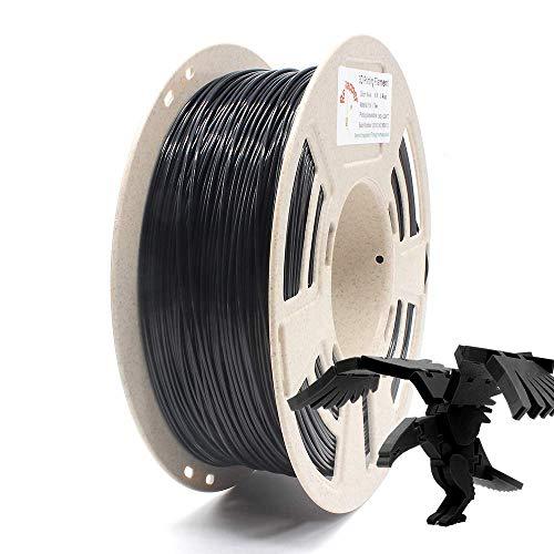 Reprapper Filamento PLA 1.75 1kg para Impresión 3D, PLA 1.75mm (± 0.03) para Impresora 3D, Negro