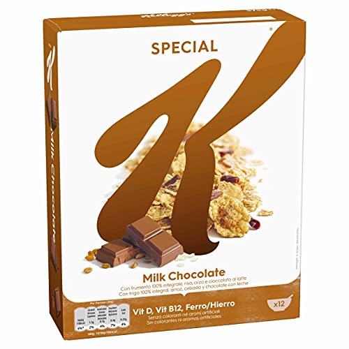 Kellogg's Special K Chocolate con Leche - Cereales de arroz, trigo integral y cebada mezclados con chocolate con leche - Paquete 375 g