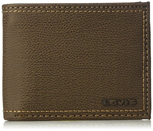 Levi's - Billetera para Hombre con Bloqueo de Seguridad RFID