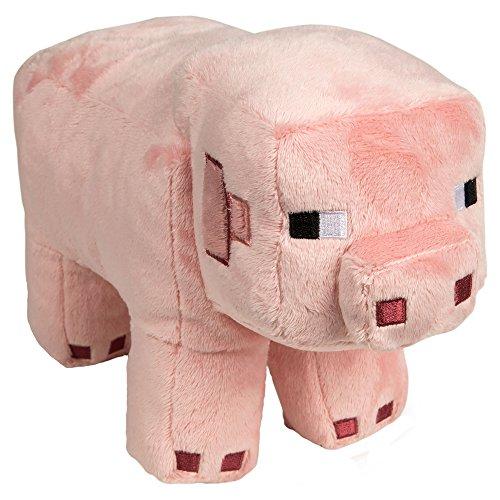 JINX Minecraft Pig Plush Stuffed Toy, Pink, 12' Long
