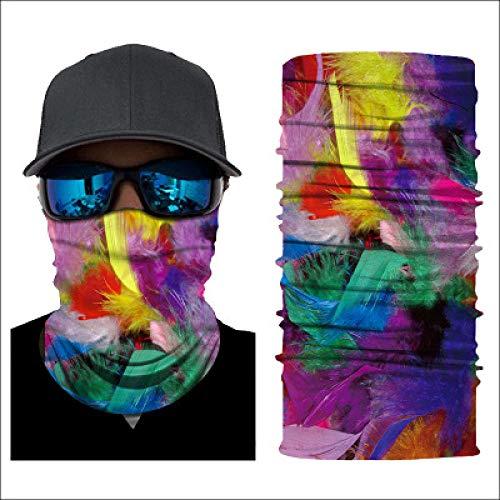 sswyfc 3D Digital Printing Kleurrijke Rook Patroon Magic Hoofdband Buisvormige Stofdichte Gezicht Bescherming Voor Mannen En Vrouwen