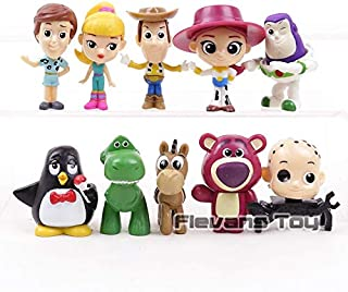 Toy Story Woody Buzz Lightyear 10pcs/Set Jessie Rex Bullseye Lotso Cartoon PVC Figures Toys