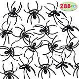 JOYIN 288 Pieces 2' Plastic Spiders Rings Bulk, Perfect for Costume Accessories, Halloween Spider Party Favors Supplier, Trick or Treat Toys Kids Fun, Novelty Prank