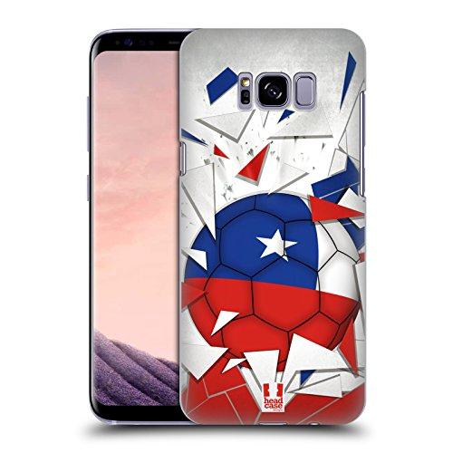 Head Case Designs Chile Saltos de Fútbol Carcasa rígida Compatible con Samsung Galaxy S8+ / S8 Plus