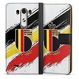 Étui Compatible avec LG G3 Étui Folio Étui magnétique Drapeau Diables Rouges RBFA