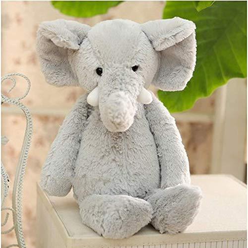 N / A Muñeco de Elefante de Peluche de Juguete para niños, cojín cómodo para Dormir, cojín de Dibujos Animados Lindo, muñeca de compañía para bebé, Regalo del día de Navidad, 26 cm