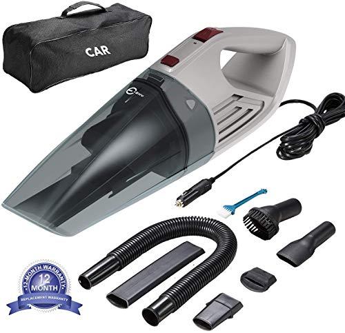 Esky Autostaubsauger, 5000PA High Power Nass/Trocken Tragbarer Handstaubsauger das mit Einer Premium-Metallturbine beladen ist, 500cm Netzkabel und Tragetasche