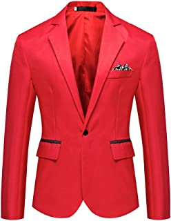 Men's Stylish Casual Solid Blazer Business Coat Suit Tops Suit Blazer Jacket for Weddings Party Dinner Prom Banquet