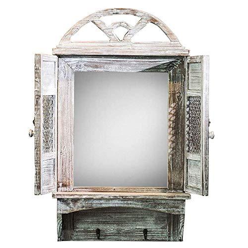 Espejo de Pared, diseño rústico de Ventana de Arco de Catedral Espejo de vanidad American Art...
