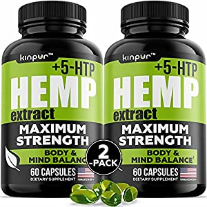 Premium Hemp Oil Capsules for Discomfort Recovery with Omega 3, 6, 9 - Stress, Anxiety, Immunity Support - Natural Hemp Extract Capsules with Calming & Relaxing Effect - 120 Hemp Pills Total