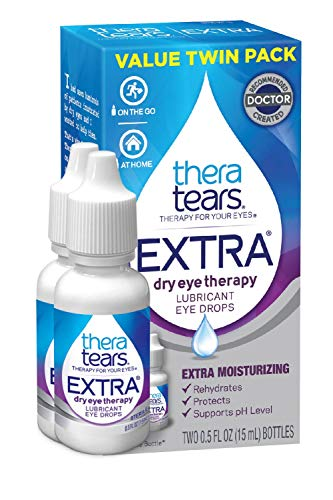 Thera Tears Eye Drops for Dry Eyes, Extra Dry Eye Therapy Lubricant, 0.5 Fl Oz, 15 Ml, 2 Pack