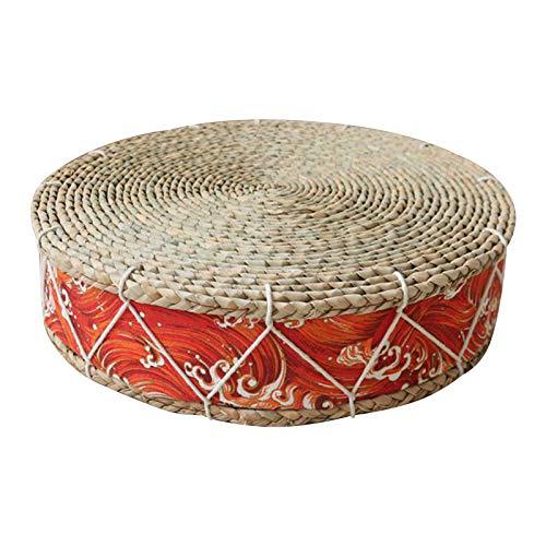 LTINN Cojín Redondo de Tatami para Ventana salediza, Tejido a Mano, protección del Medio Ambiente Natural, Conveniente y Duradero, Esterilla de Yoga para la meditación de la Ceremonia del té
