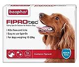 Beaphar FIPROtec Kill Flea Ticks Spot On Drop Treatment Protection for Small Medium Large XL Dogs Puppies (1 Treatment, Dog (Medium 10-20kg))