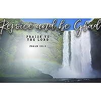 Postcards - Attendance - Inspirational Rejoice and be Glad - KJV Scripture - (Pkg. of 25) [並行輸入品]