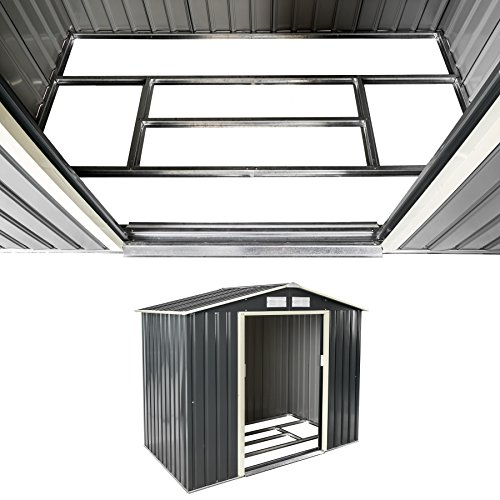 TecTake Metall Gerätehaus Gartenhaus Satteldach | Metall-Fundament | Diverse Farben und Modelle (Typ 3 | Grau | Nr. 402568) - 3