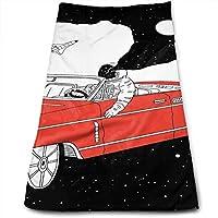 車 宇宙飛行士 フェイスタオル 吸水速乾 柔らか肌触り ふわふわ 肌触り抜群 可愛いスポーツタオル ミニバスタオル ビッグ 海水浴 旅行用タオル 家庭用ホテルスポーツなどに最適 おしゃれ 多用途 30*70cm