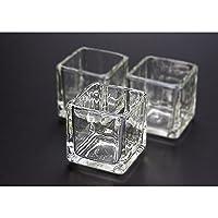 キャンドル用グラス キューブS【ジェルキャンドル ゼリーキャンドル キャンドルグラス】 (12個)