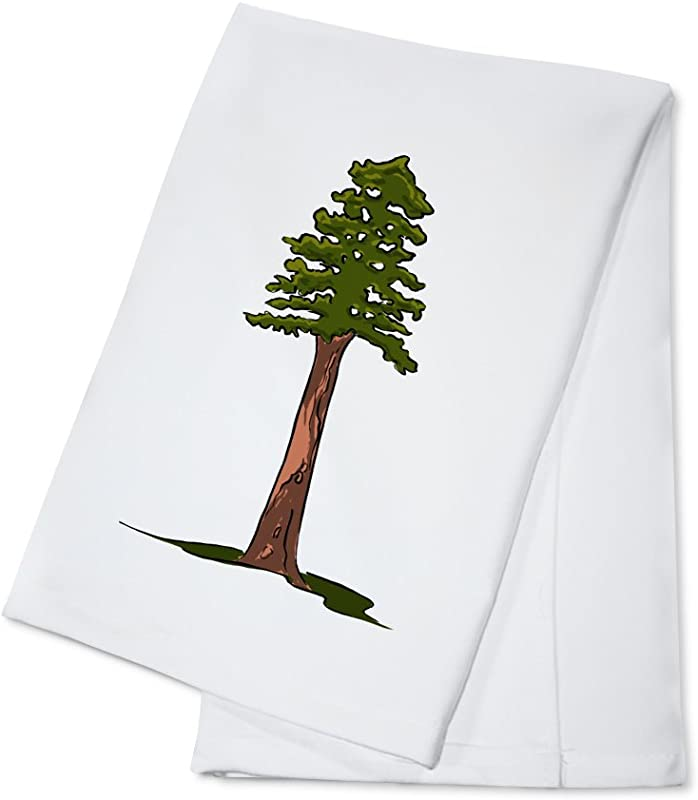 Redwood Tree Icon 100 Cotton Kitchen Towel