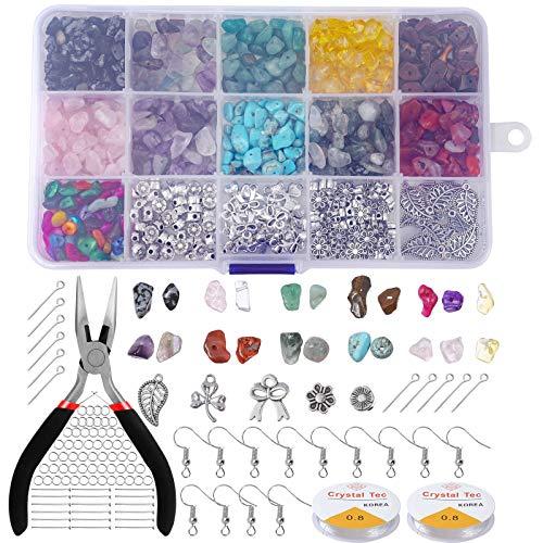 Kit de Fabricación de Cuentas de Piedras para Joyas, Comius