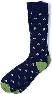 Men's Hipster Designer My Lucky Shamrock Luck Novelty Crew Dress Trouser Socks
