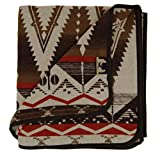Ruth&Boaz Outdoor Wool Blend Blanket Ethnic Inka Pattern(Q) (Brown, Large)