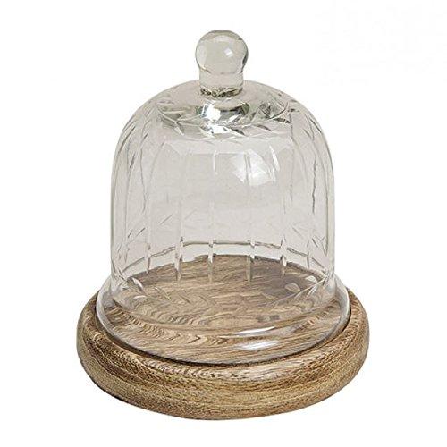 Campana de cristal (con placa de madera de mango