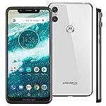"Motorola Moto One - Android One - 64 GB - 13+2 MP Dual Rear Camera - Dual SIM Unlocked Smartphone (at&T/T-Mobile/MetroPCS/Cricket/H2O) - 5.9"" HD+ Display - XT1941-3 - (International Version) (Black) Front Back Side"