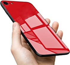 ERIT Oppo Realme 1 Back Case Cover Luxurious Toughened Glass Back Case with Shockproof TPU Bumper Oppo Real me 1 (Red Glass)